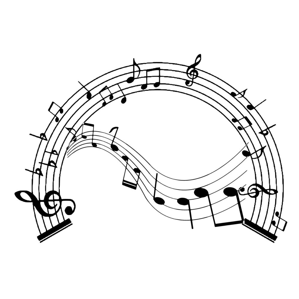 silhouette musical note clef ba